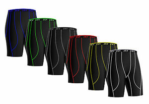 Mens Compression Shorts Sports  skin tight fit gym pants Base layers