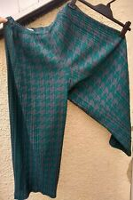 ISSEY MIYAKE Pleats Please Plisse Culotte Trousers Houndstooth Green Pink Camo 5
