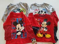 Disney Mickey Mouse VariousToddler Boys Longsleeve T-Shirt Size 2T 3T 4T NWT Red