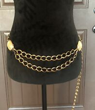 Gold Chain Belt With Pearl Accents