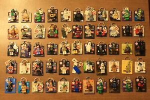 LEGO Minifigure Keychains / Bag Charms ~ Large Asst. Available ~ Mix and Match