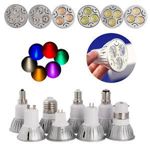 3W Dimmable LED Spotlight GU10 MR16 E27 E14 E14 B22 B15 Bulb 220V 12V Lamps RH83