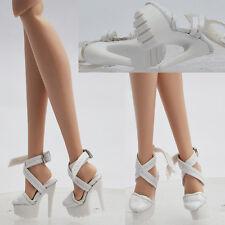 "Shoes white for 12"" Fashion Royalty Doll Poppy Parker DG Momoko natalia 33FR2"