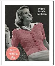 1940s Cardigan Blouse Knitting Pattern - Copy