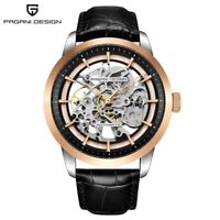 Luxury PAGANI DESIGN Military Men's Automatic Mechanical Watch Leather Strap