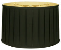 Shallow Drum English Box Pleat Lamp Shade