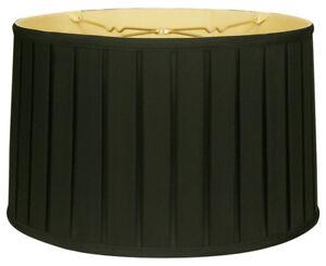 Shallow Drum English Box Pleat Lamp Shade