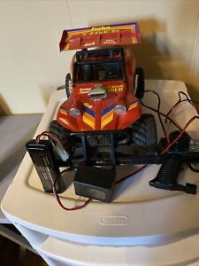 1991 Radio Shack Turbo Tiger Remote Controll  Buggy With Box Remote Battery