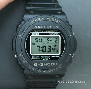 Classic Casio G-SHOCK DW-5700 (1545) Black Resin 43mm watch - New Battery