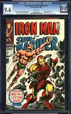 Iron Man & Sub-Mariner #1 CGC 9.6 1968 Avengers Thor Hulk WP! G5 162 cm clean