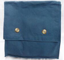 Navy Blue Canvas Messenger Bag Album Tote Shoulder Strap Office or Hobby