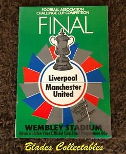 1977 FA CUP FINAL - LIVERPOOL V MANCHESTER UTD IN EXCELLENT, NEAR MINT CONDITION
