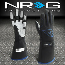 NRG INNOVATIONS GS-500BK LARGE SIZE PAIR DOUBLE LAYER RACING FULL FINGER GLOVES