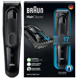 BRAUN HC5050 Haarschneider Haarschneidemaschine Haar Bart Trimmer Akku 17 Längen