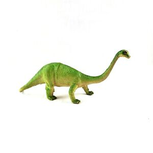 "Vintage Imperial 1985 Brachiosaurus Plastic Figure 12""x5"" Green White Long Neck"
