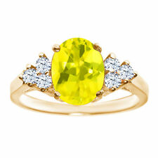 Topaz Solitaire Yellow Gold 1.50 - 1.74 Fine Gemstone Rings