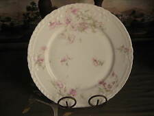 Set of Two Limoges Haviland Dinner Plates Pink Floral Schleiger Two (2)