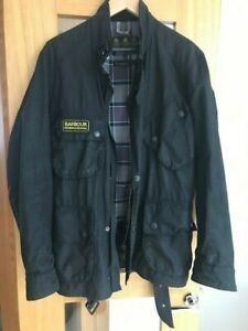 Mens Barbour international waxed jacket ,size medium