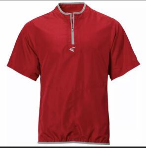 Easton Adult M5 Cage Short Sleeve Jacket Scarlet Red / Gray Sz Medium NWT
