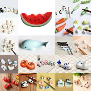 Ceramic Animals Chopsticks Stand Rest Rack Porcelain Spoon Fork Holder Gift