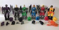Remco Mantech Robot Warriors Lot Of 6 Figures 90%-100% Complete Original Man Tec