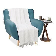 Couvertures gris pour le lit en 100% coton