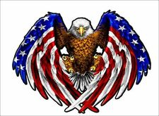 "American Eagle / 5.5"" USA Patriotic Vehicle Vinyl Decal Window Sticker Graphic"