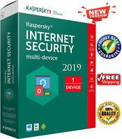 KASPERSKY INTERNET SECURITY 2019 1 PC/ User / 1 Device /1 Year/ Global Key 6.25$
