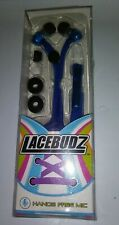 Lacebudz Earphone Hands Free MIC Blue new