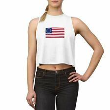 Betsy Ross Crop Top  American Flag Women's Cropped T Shirt