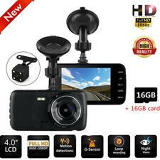 4'' HD 1080P Dual Lens Car DVR Front and Rear Camera Video Dash Cam Recorder
