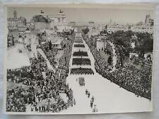 FOTO FOTOGRAFIA PARATA MILITARE - FORI ROMANI ROMA - ANNI '30 - ORIGINALE