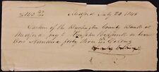 m Original 1840 Handwritten Check by Charles Collins Sr.