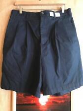 Nordstrom Smartcare Wrinkle-Free men's shorts size 34W Supima Cotton Navy pleate