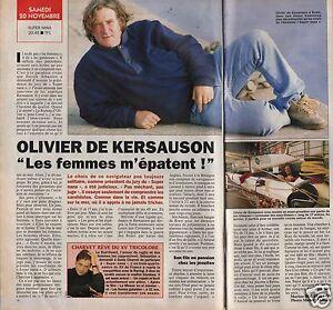 Coupure de presse Clipping 1993 Olivier de Kersauson  (1 page 1/2)