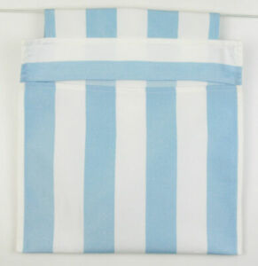 Weather Proof Canvas Clothes Peg Bag Holder- For Trolley & Washing Line Blue