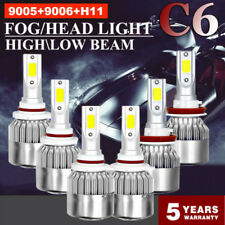 Combo 9005 + H11 + 9006 3900W 585000LM  LED Car Headlight Kit Hi Low Bulbs 6000K