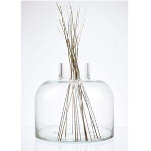 Large Contemporary Clear Glass Flower Vase Bunch Bouquet 10L
