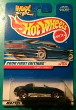 2000 HOT WHEELS FIRST EDITIONS MX48 TURBO #80 5 SPOKE BLUE GREY 20 OF 36