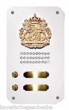 Klingel Klingeltaster Klingelknopf Klingelplatte Metall Wappen Königreich Bayern