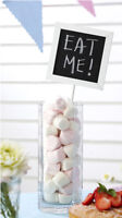 5 x CHALKBOARD WEDDING / PARTY TABLE NUMBER HOLDERS DECORATION SHABBY CHIC
