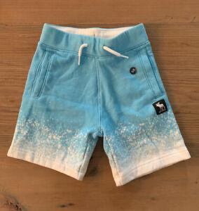 Abercrombie Kids Boys Blue White Splatter shorts NWOT size 5/6