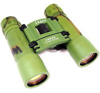 Jäger Fernglas 12x30 zusammenklappbar klappbar Feldstecher grün binoculars