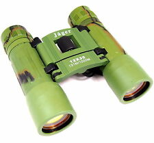 TOP Jäger Fernglas 12 x 30 zusammenklappbar klappbar Feldstecher grün binoculars