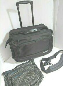 """Magellan 2 wheeler carry-on suitcase Black 19""""x14""""x10""""  + 3 matching totes"""