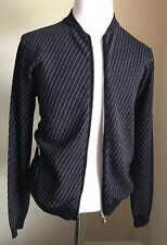 New $1795 Giorgio Armani Men Jacket Sweater Navy/Blue 40 US ( 50 Eu ) Italy
