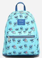 Loungefly Disney Lilo & Stitch Baby Stitch Blue Mini Backpack Bag NWT