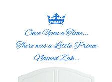 Once Upon a Time Prince Zak Wall Sticker Decal Bed Room Nursery Art Boy/Baby