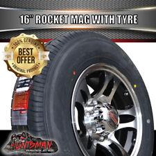 "16"" 6 stud Rocket Alloy Mag Wheel & 195/65R16L/T Tyre. Caravan Camper Trailer"