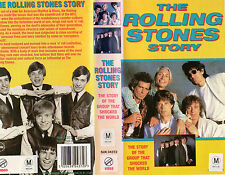 The Rolling Stones Story Mick Jagger Keith Richards VHS PAL